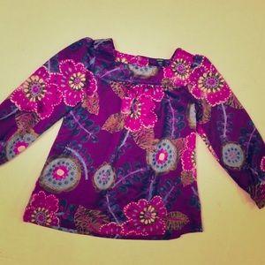 Baby Gap Long Sleeve Purple Floral Print Girls 4T